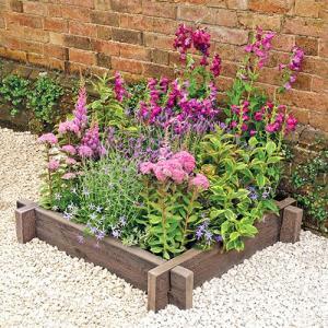 【英国製/石製花壇】ブラッドストーン社製 ウッドプランター・スリーパー 1段セット|tokyo-gardening