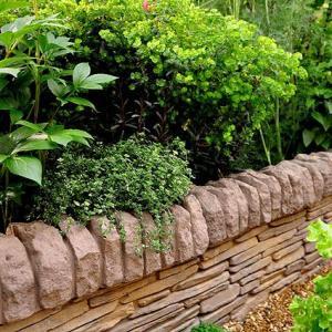 石材/ストーンエッジング(ストレート部分) 10個セット|tokyo-gardening