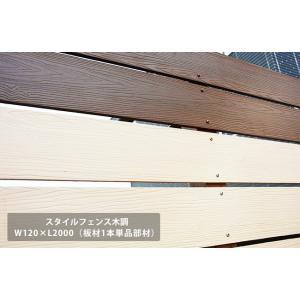 新発売商品!【目隠しフェンス】商品名:スタイルフェンス木調 L2000(単品部材)横張り【人工ウッド 樹脂製 フェンス横張り】 tokyo-gardening
