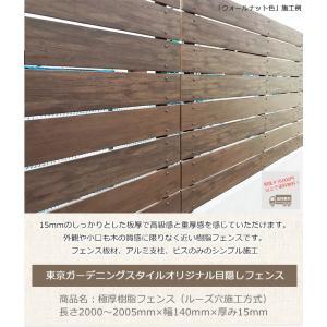 【目隠しフェンス】極厚樹脂フェンス L2000〜2005mm×W140×T15 (単品部材/板材1枚)横張り【人工ウッド 樹脂フェンス フェンス横張り DIYフェンス】