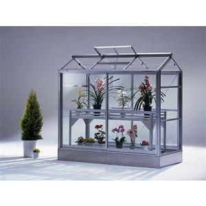アルミ温室/コンパクトタイプ(M-2タイプ:間口1982×奥行963×棟高1611mm、0.6坪)4ミリ強化ガラス tokyo-gardening