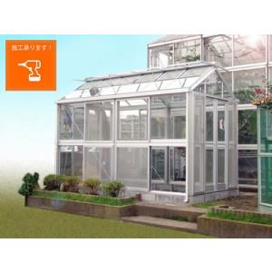 アルミ温室/2段サッシタイプ(A-105タイプ:間口2000×奥行2518×棟高2657mm、1.5坪)4ミリ強化ガラス tokyo-gardening