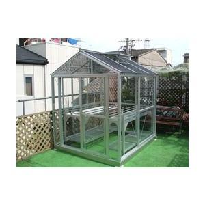 アルミ温室/コンパクトタイプ(AE-101タイプ:間口1750×奥行1982×棟高2120mm、1.0坪)4ミリ強化ガラス tokyo-gardening
