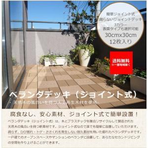 ベランダデッキ(簡易ジョイント式)12枚1セット商品(1梱包)【腐らないベランダデッキ、DIYで簡単設置】|tokyo-gardening