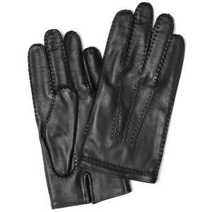 手袋 メンズ 本革 レザー ブラック 黒 黒色 手袋 ラムス...