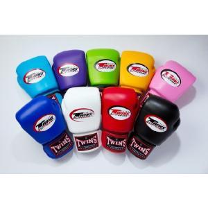 【限定セール!】  TWINS ボクシンググローブ 8oz マジックテープ式  黒