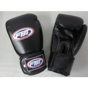 【限定セール!】タイアマチュア公式 FBT ボクシンググローブ PRO 12oz 黒 本革製|tokyo-muaythai