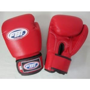【限定セール!】タイアマチュア公式 FBT ボクシンググローブ PRO 14oz 赤 本革製|tokyo-muaythai