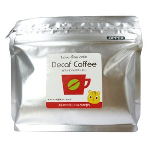 lovetimecafe ストロベリーバニラのカフェインレスコーヒー 中挽き100g フレーバーコーヒー ※カフェイン残留率0.1%以下|tokyo385