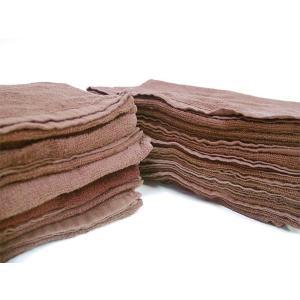 リサイクル タオルウエス 茶 5kg(約70〜80枚入り)綿100% 洗浄消毒済み 中古