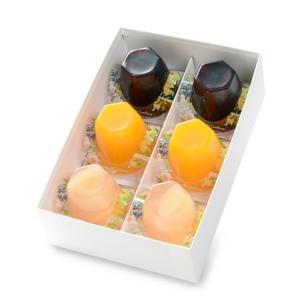 銀座のジンジャー 夏限定ジュレ6個セット 2箱 (マンゴー&オレンジ、ピーチ&ローズ、ブルーベリー&アールグレイ 各2個×2箱)|tokyobishoku|06