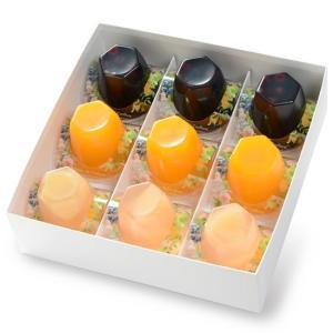 銀座のジンジャー 夏限定ジュレ9個セット 2箱 (マンゴー&オレンジ、ピーチ&ローズ、ブルーベリー&アールグレイ 各3個×2箱)|tokyobishoku|06