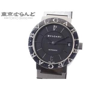 ブルガリ BVLGARI ブルガリブルガリ 腕時計 メンズ 自動巻き オートマチック SS 黒文字盤...