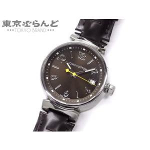 6fc21204cb24 ルイ・ヴィトン LOUIS VUITTON タンブールMM 腕時計 Q1311 SS ステンレススチール 革 レザー Qz クォーツ  電池式【中古】101361651