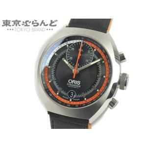 オリス ORIS クロノリス クロノグラフ 時計 腕時計 メンズ 自動巻 オートマチック SS レザ...