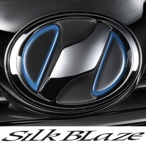 SilkBlaze シルクブレイズ ヒートエンブレムシート ブラックベース[レッド/ブルー]  ネッツ:NZ01|tokyocar