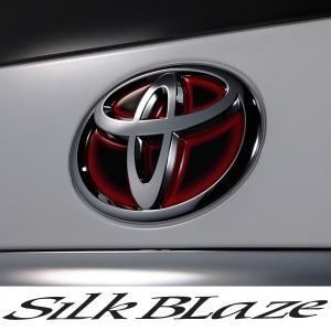 SilkBlaze シルクブレイズ ヒートエンブレムシート ブラックベース[レッド/ブルー]  トヨタ:T25|tokyocar