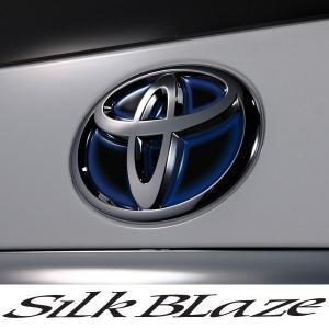 SilkBlaze シルクブレイズ ヒートエンブレムシート ブラックベース[レッド/ブルー]  トヨタ:T53|tokyocar