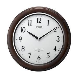 新品 CITIZEN(リズム時計) リバライトW495 木枠/茶色 8MY495-006《白色LED搭載電波》|tokyodenki