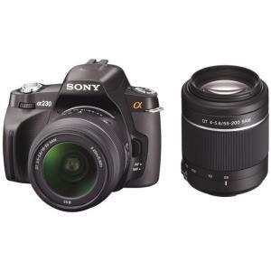 SONY デジタル一眼カメラ α230 DSLR-A230Y ダブルズームレンズキット|tokyodenki