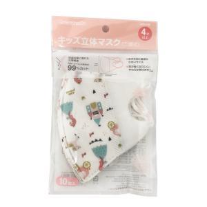 【ネコポス専用】GREENNOSE 使い捨て キッズ 立体 マスク (三層式) お姫様柄 10枚入り キッズ用(4歳以上)|tokyodogs