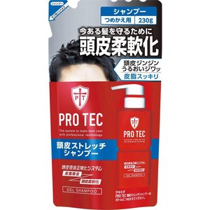 PRO TEC (プロテク) 頭皮ストレッチ シャンプー つめかえ用 230g 医薬部外品[cp] tokyodogs