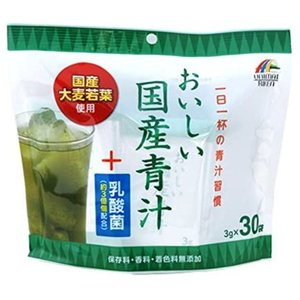 ユニマット おいしい国産青汁+乳酸菌 3g 30袋入|tokyodogs