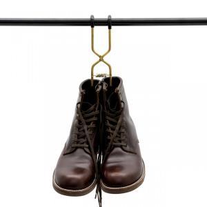 ブーツハンガー真鍮 日本製 職人の手作り 安全靴 エンジニアブーツ等重い靴にも対応|tokyohanger|02