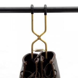 ブーツハンガー真鍮 日本製 職人の手作り 安全靴 エンジニアブーツ等重い靴にも対応|tokyohanger|03