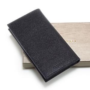 BVLGARI ブルガリ 二つ折り長財布(札入れ) メンズ です。美しい型押しが施されたブラックのグ...