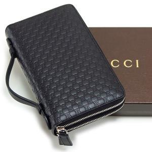 35c674573246 グッチ GUCCI 財布 メンズ レディース 長財布 ブラック ファスナー トラベルドキュメントケース