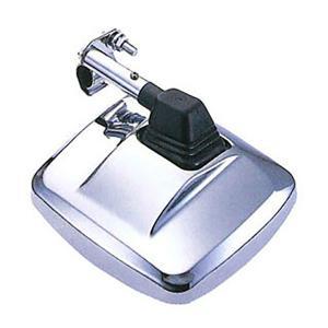角型サイドサポートミラー曲面ミラー クロームメッキ|tokyomach7