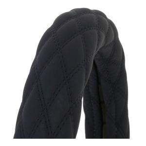 ヌバック調ハンドルカバー富士ブラック/黒糸LM-B|tokyomach7