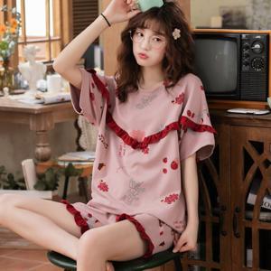 レディース パジャマ  半袖 上下セット 夏用 Tシャツ 短パン 夏服 かわいい 寝間着 ルームウェ...