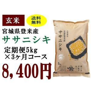 定期便3ヶ月コース:ササニシキ玄米5kg 宮城県登米産|tomerice
