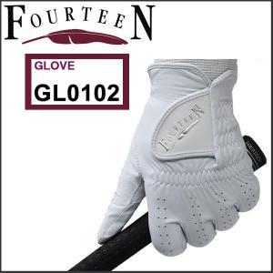 「メール便送料無料」 フォーティーン FOURTEEN GL0102 天然皮革 ゴルフグローブ|tomikichi