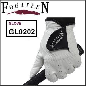 「メール便送料無料」 フォーティーン FOURTEEN GL0202 人工皮革 ゴルフグローブ|tomikichi