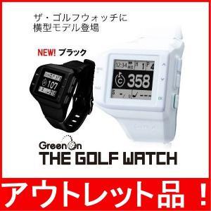 THE GOLF WATCH ヨコ型 グリーンオン ザ ゴルフウォッチ 横型 GPS距離測定器ゴルフナビ 腕時計形|tomikichi