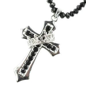 クロスクラウンネックレス スピネル 王冠 十字架 クラウン Crown Cross|tomine