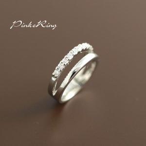 願いが叶いますように 小指の指輪 ピンキーリング完成 CZ12石 E-735|tomine