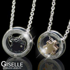 GISELLE(ジゼル)「PUZZLE RING」ジュエリーステンレス製/アレルギー:変色にも安心・パズル・リング・ペアネックレスシリーズ|tomine