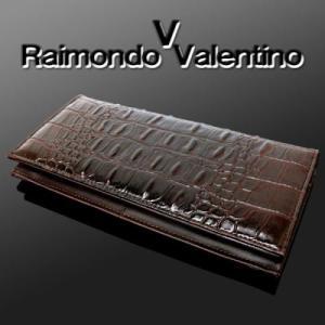 Raimondo Valentino 人気商品 迫力のあるクロコ型押し RaimondoValentino 長財布 ブラック KT-257|tomine