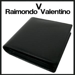 (メール便可) Raimondo Valentino 革の 入手困難 最高級馬革使用 二つ折り財布黒 メンズ KT-301H(KT301H)|tomine