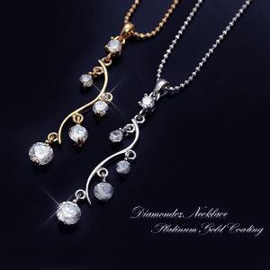 ピアス&ネックレスのセット 大人気 大人デザインの朝露モチーフ CZ|tomine