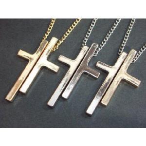 ダブル クロス ネックレス/セパレート クロス ペンダント・十字架・クロス・Cross/M-1849|tomine