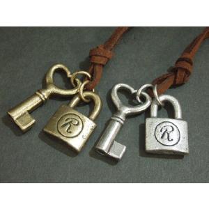 ユニセックス ロングチョーカー 80cm・ロックハートキー・Key・Rock・Heart・鍵/M-2065|tomine