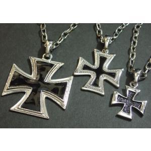 エポ入りビッグクロスネックレス・大・中・小 ユニセックス 鉄十字 十字架 鍵十字 Cross|tomine