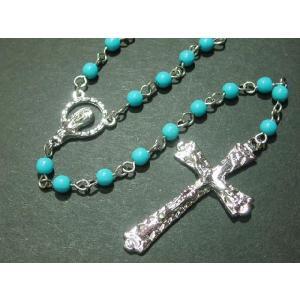ロザリオ ネックレス ユニセックス ペンダント 十字架 Cross ジーザス キリスト tomine