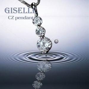 GISELLE CZペンダント 「トリロジー」 人気のベネチアチェーン  OS-7963 tomine