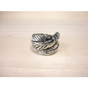 Feather Motief Ring フェザーモチーフリング ネイティブ 羽根 羽 ウィング シルバー|tomine